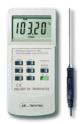 全国送料無料LUTRON社[TM-917HA]タイプK/J/R/E/T 高精度温度計 TM-917HA