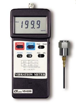 全国送料無料LUTRON社[VB-8200] デジタル振動計 VB-8200