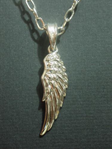 メール便可 即納OK 最安値に挑戦 特売 SALE エンジェルフェザーネックレス メンズ 翼 天使 羽 M-1570 ユニセックスペンダント