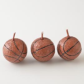 【エントリーで全品P10倍】TOMIZ cuoca(富澤商店・クオカ)キャンドル バスケットボール3個入 / 1セット キャンドル スポーツ・その他
