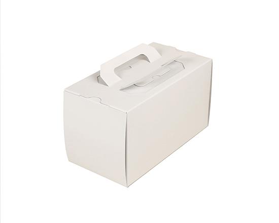 TOMIZ cuoca(富澤商店・クオカ)H115 手提6寸ロール 白ム地 1本 GPロールトレー付 / 50枚 お菓子箱 ロールケーキ箱