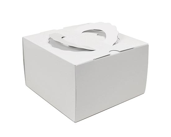 TOMIZ cuoca(富澤商店・クオカ)TD 白ム地 5寸 (本体) / 50枚 お菓子箱 手提デコ箱