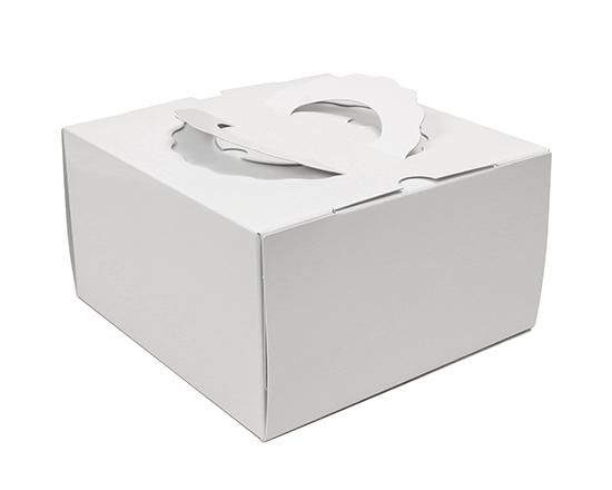 TOMIZ cuoca(富澤商店・クオカ)TD 白ム地 6寸 (本体) / 50枚 お菓子箱 手提デコ箱