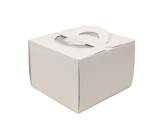 TOMIZ cuoca(富澤商店・クオカ)H120 TSD 白ム地 4.5寸 (本体) / 50枚 お菓子箱 手提デコ箱