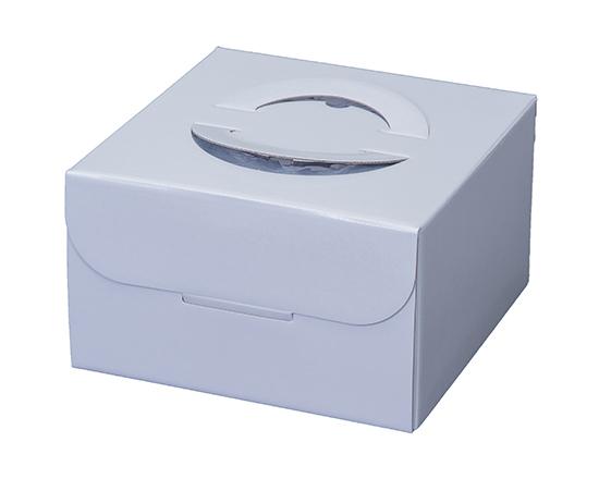 TOMIZ cuoca(富澤商店・クオカ)手提ホワイト HP130 6号 (本体) / 50枚 お菓子箱 手提デコ箱