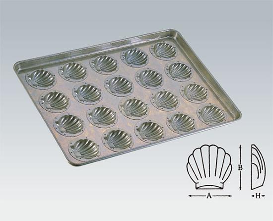 TOMIZ cuoca(富澤商店・クオカ)シリコン加工 ほたて貝型天板 20面 / 1枚 お菓子作りの型 マドレーヌ・フィナンシェ 天板型(フレンチ・6取サイズ)