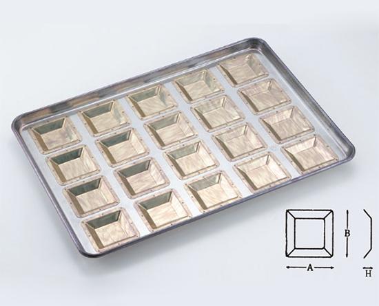 TOMIZ cuoca(富澤商店・クオカ)シリコン加工 カトラー70型天板 20面 / 1枚 お菓子作りの型 マドレーヌ・フィナンシェ 天板型(フレンチ・6取サイズ)
