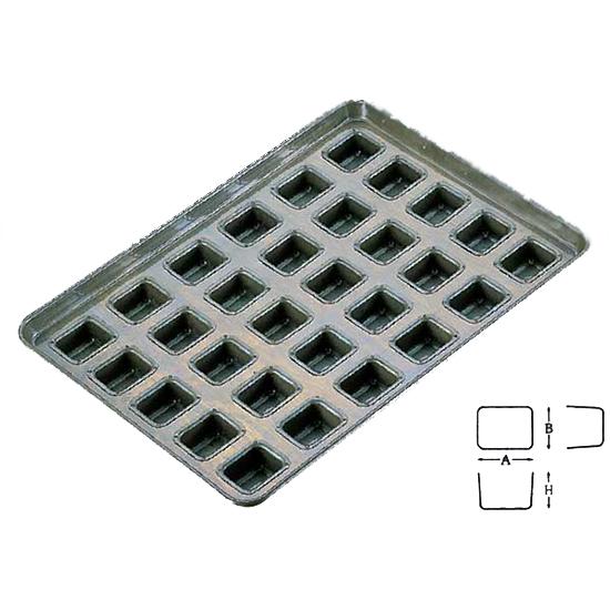 TOMIZ cuoca(富澤商店・クオカ)シリコン加工 ホール型天板 30面 / 1枚 お菓子作りの型 マドレーヌ・フィナンシェ 天板型(フレンチ・6取サイズ)