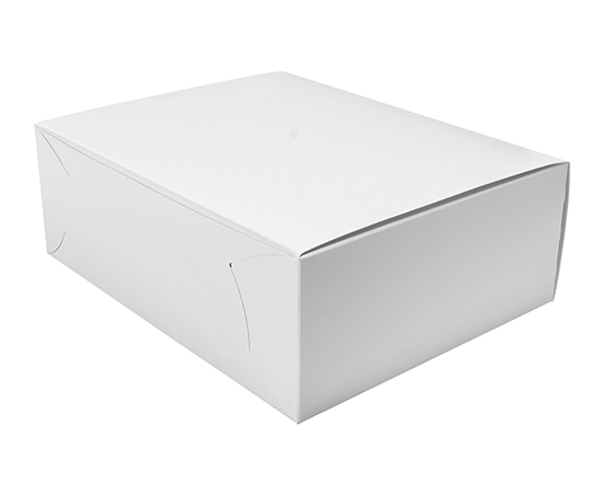 TOMIZ cuoca(富澤商店・クオカ)105 白ショート折 No.10 / 50枚 お菓子箱 サービス箱