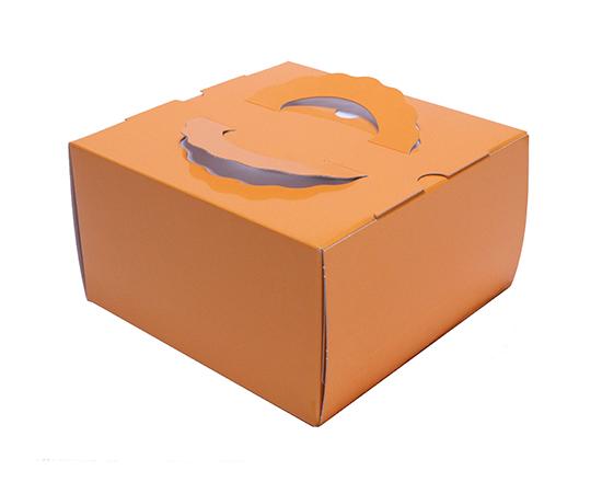 TOMIZ cuoca(富澤商店・クオカ)TD オレンジ 6寸 (本体) / 50枚 お菓子箱 手提デコ箱