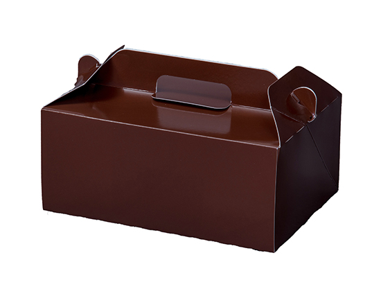 TOMIZ cuoca(富澤商店・クオカ)WDカラー105 ココア 6×8.1 / 50枚 お菓子箱 手提サービス箱
