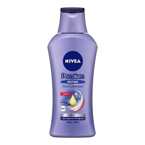 お見舞い 粉ふき乾燥予防 中古 高保湿ミルク ニベア 190g リペア プレミアムボディミルク