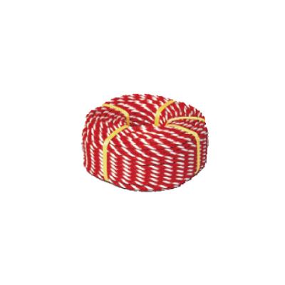 871-63 【送料無料】 紅白ロープ (標識用) 白/赤 12mmφx100m巻