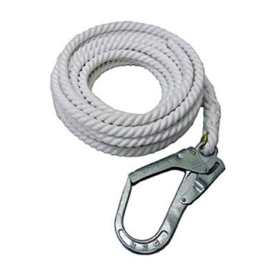 大特価 親綱ロープ 16mm×25m 5本 片大口径フック 片テープ止め(エステルスパン) 名古屋製鋼
