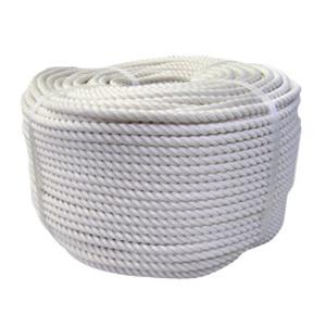 NAMEN14100 【送料無料】 綿(混紡)ロープ 白 14mm×100m