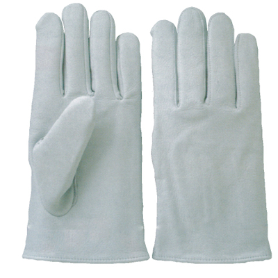 KA514-10 牛革クレスト手袋 丸指型 ホワイト (S~LL) 10双セット