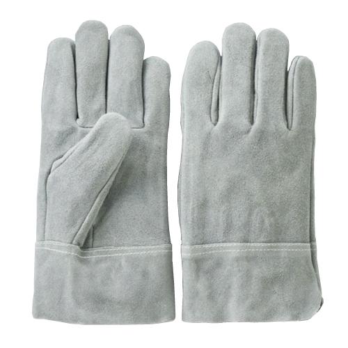 527-10 床革オイル加工内縫い作業手袋 ダークグレー (フリーサイズ) 10双セット