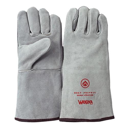 熔接 土木建築 造船 運搬 バーベキュー キャンプなどに W-0514N ウェルザ ナチュラル 1双 新色 <セール&特集> 熔接用5本指手袋 Welza