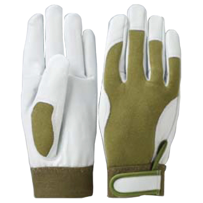 KA806-2-5 作業手袋 牛革ウェーブカットグローブ (M~LL) 5双セット