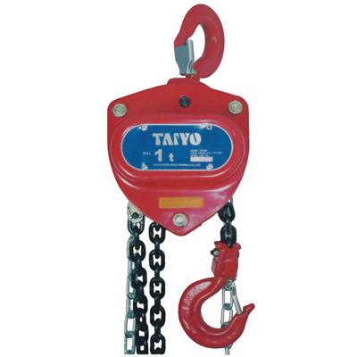 TA1012275 大洋製器工業 クリアランスsale!期間限定! TAIYOチェーンブロック 1t メーカー直売 TH1000