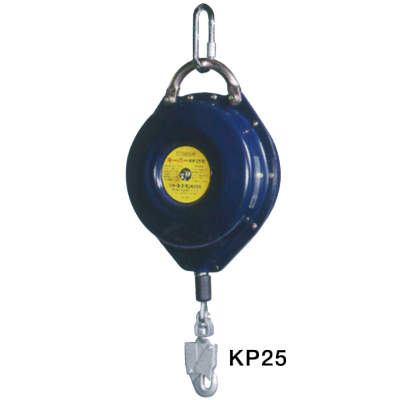 KP-25 【送料無料】 トーヨーコーケン 安全ブロック キーパー カラビナ・引き寄せロープ付