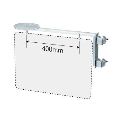 305-13A 出入口標識取付金具 (取付用金具のみ) 鉄(ユニクロメッキ) 250×625mm