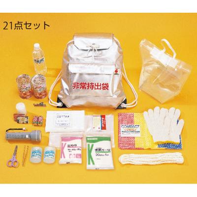 873-44 避難袋 緊急避難用 非常持出袋 避難21点セット 化粧袋入り