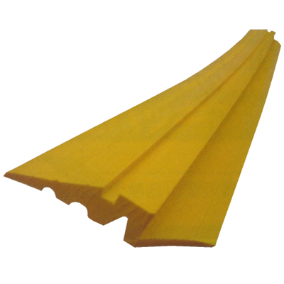 AR-4113 アラオ 段差スロープA 敷き鉄板用 155W×1500L 黄 4本1組