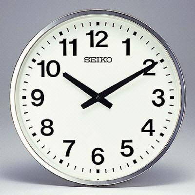 314-59 安全掲示板用時計(屋外防雨型) 事務所 宿舎用品 朝礼会場安全広場 ユニット UNIT
