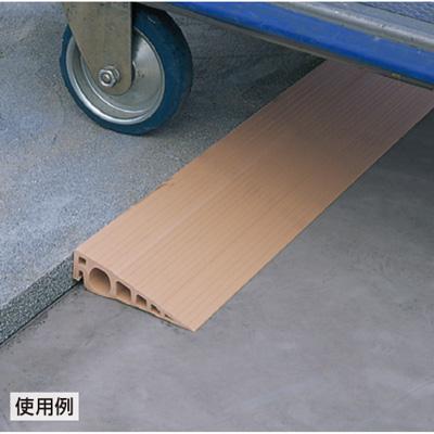 387-72 段差モール ブラウン 軟質塩ビ W800×D110×H30mm