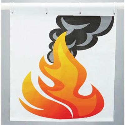831-802 消火用品 消火訓練用標的 (炎) 片面表示 1170×900mm