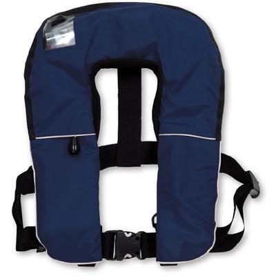 379-648B【送料無料】 膨張式救命胴衣 ブルー