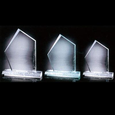 YOAT-7760-CL(GR)【送料無料】アクリルトロフィー カットストーン Lサイズ 5枚1組 H214×W180×D50