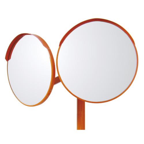 『4年保証』 384-25 カーブミラー A2タイプ丸型反射鏡 店舗 アクリル製 二面鏡 600mmφ