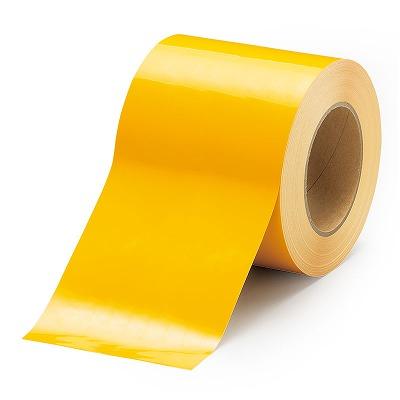 863-022 屋内床貼用テープ(ユニテープ) 黄 100mm幅×20m巻 UNIT ユニット