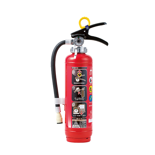376-151 消火器 4型 蓄圧式粉末(ABC)消火器 (リサイクルシール付) 普通・電気・油火災用