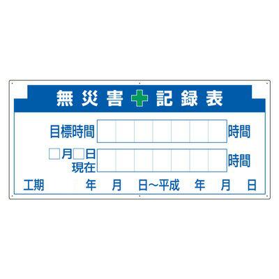 313-32A 無災害記録表(板のみ) 鉄板 500×1100mm 安全意識向上 ユニット UNIT
