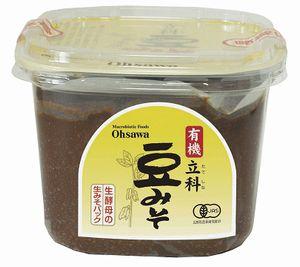 メーカー:オーサワ 送料無料 1着でも送料無料 有機立科豆みそ 750g