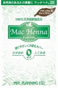メーカー:マックプランニング 市販 マックヘナ 100g 人気 おすすめ ナチュラルライトブラウン