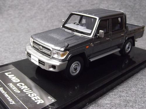 ミニカー WIT'S W450 1/43 LAND CRUISER 70 PICKUP 30th Anniversary Gray Metallic ランドクルーザー