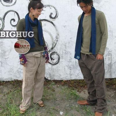 【Big Hug 】アカータイパンツ!アジアン/エスニック/ファッション小物/アジアン雑貨アジアンファッション/ビックハグ/ナチュラル
