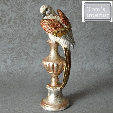 【パロットオブジェ】オウム 鳥 置物 飾り アンティーク調 レトロ インテリア 雑貨 ギフト プレゼント