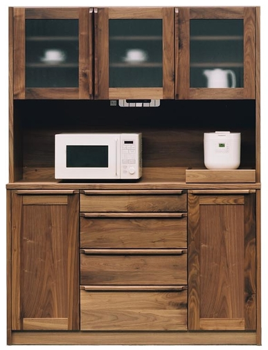【健康仕様家具】1400レンジボード「ANR-UOR」開き戸タイプ
