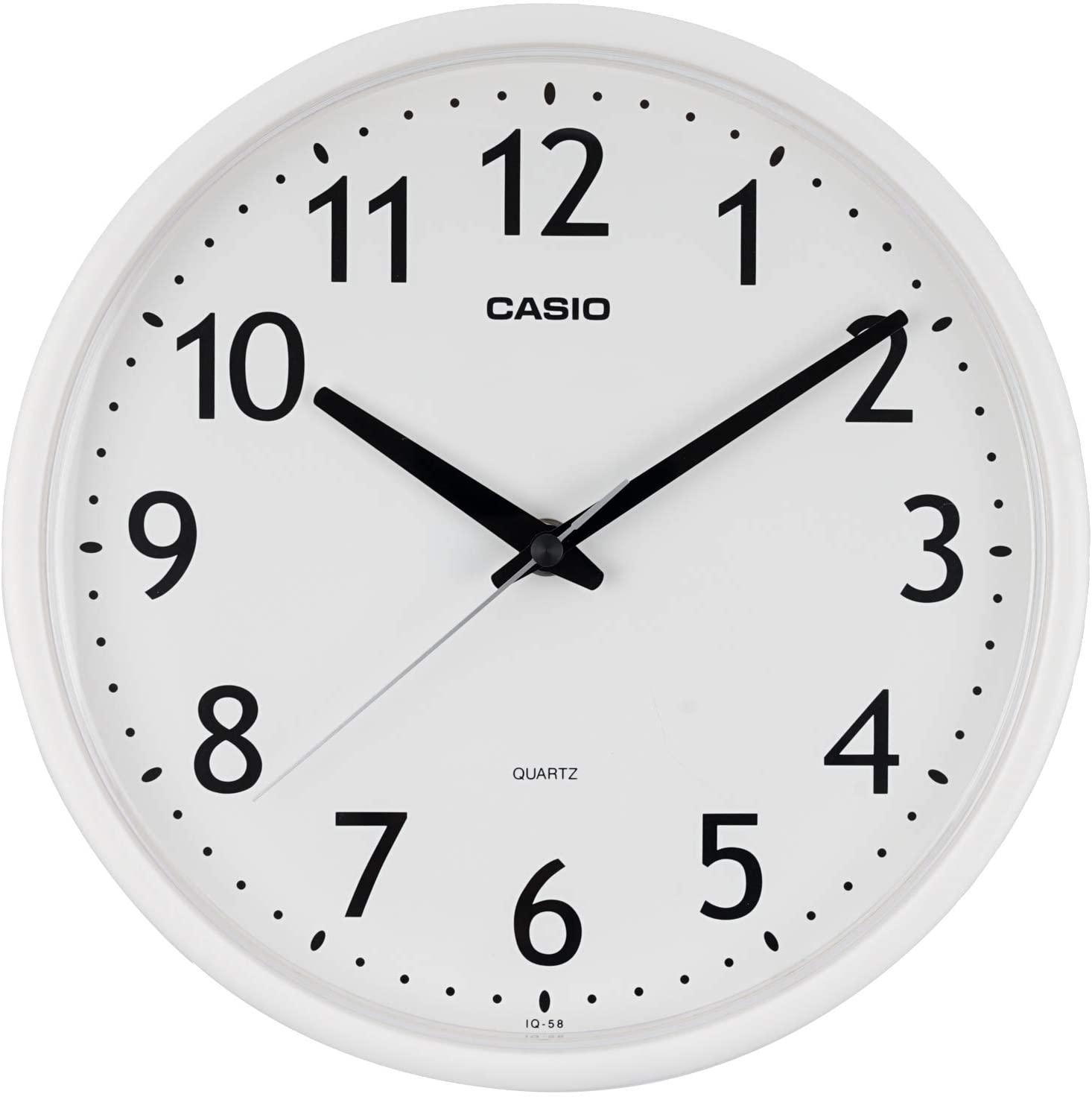 メーカー公式ショップ インテリア 掛け時計 壁掛け カシオ 直径25.4cm ホワイト IQ-58-7JF 公式ストア