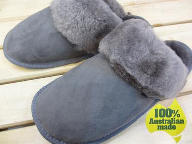 【送料無料】100%オーストラリアンメイドのムートンスリッパ サンドグレー Mandic Shoes社製/S~LLサイズ