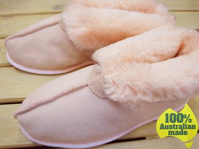 【送料無料】100%オーストラリアンメイドのムートンスリッパ ブーツタイプ ベビーピンク Mandic Shoes社製/S・Mサイズ