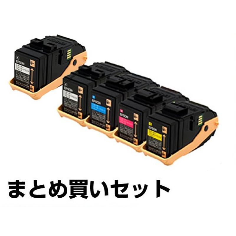 LPC3T33 トナー エプソン LP-S7160 LPC3T33 4色 +黒1本 環境推進 純正