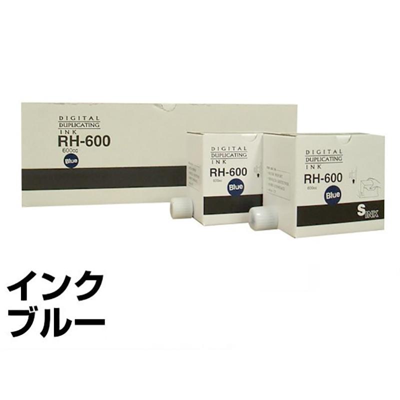 リソー RE Zタイプ インク ミディアムブルー6本 汎用 B4 印刷機 RE23Z RE23M RE63Z RE54S RE62S 用インク