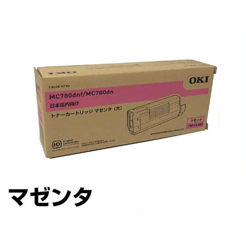 TNR-C4RM1 トナー OKI MC780dnf MC780dn 大容量 トナー 赤 マゼンタ 純正