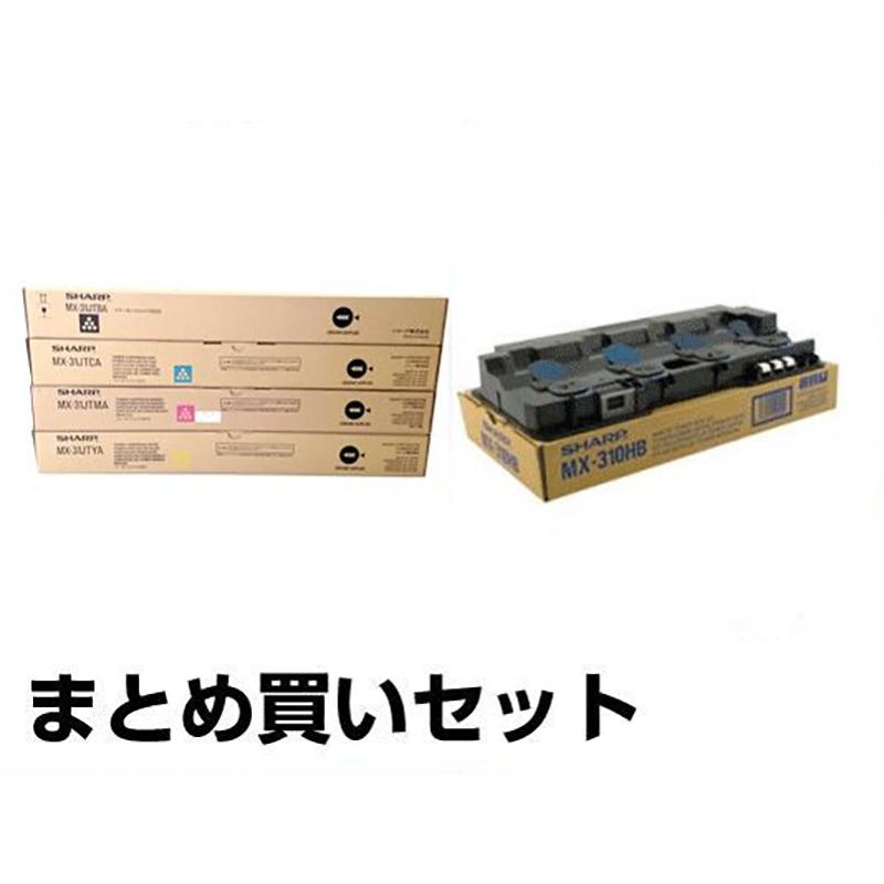 MX31 トナー シャープ MX31JTBA CA MA YA MX3100 MX2600 選べる 4色 廃トナーBOX付 純正